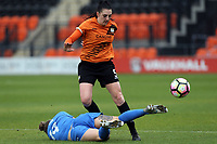 Danielle Lea of London Bees and Hannah Cain of Sheffield FC Ladies during London Bees vs Sheffield FC Ladies, FA Women's Super League FA WSL2 Football at the Hive Stadium on 12th May 2018