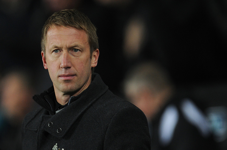 Swansea City manager Graham Potter <br /> <br /> Photographer Kevin Barnes/CameraSport<br /> <br /> The EFL Sky Bet Championship - Swansea City v West Bromwich Albion - Wednesday 28th November 2018 - Liberty Stadium - Swansea<br /> <br /> World Copyright &copy; 2018 CameraSport. All rights reserved. 43 Linden Ave. Countesthorpe. Leicester. England. LE8 5PG - Tel: +44 (0) 116 277 4147 - admin@camerasport.com - www.camerasport.com