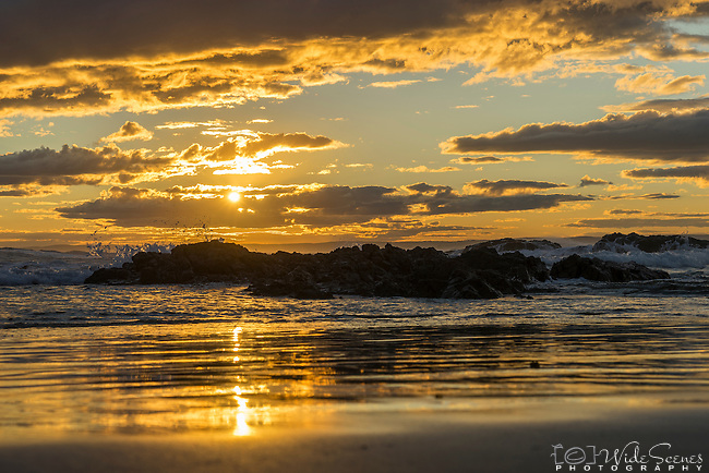 Sunset at Stockton Beach in Port Stephens, NSW Australia