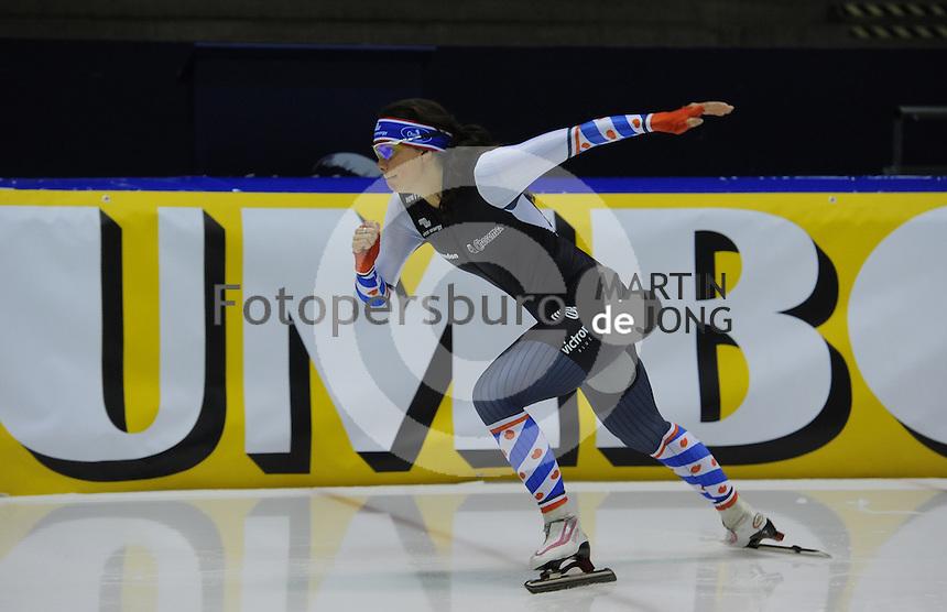 SCHAATSEN: HEERENVEEN: IJsstadion Thialf 21-01-2016, Topsporttraining als voorbereiding op de NK afstanden Nk Sprint, Natasja Roest, ©foto Martin de Jong