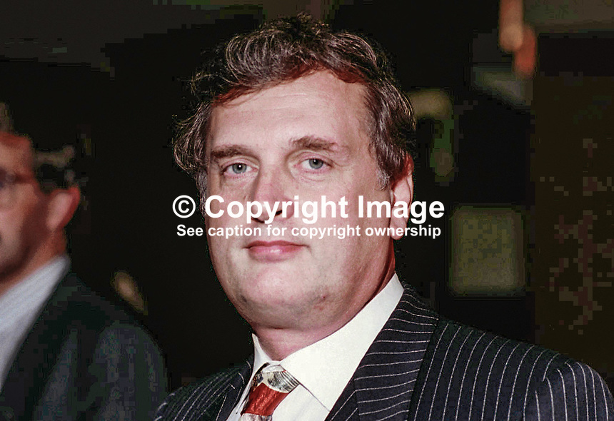 Rod Binge, activist, Conservative Party, Britain, UK, SEA CPC, 1994, Annual  Conference. Ref: 199410061.<br /> <br /> Copyright Image from Victor Patterson,<br /> 54 Dorchester Park, <br /> Belfast, UK, BT9 <br /> <br /> t1: +44 28 9066 1296 (from Rep of Ireland 048 90661296)<br /> t2: +44 28 9002 2446 (from Rep of Ireland 048 9002 2446)<br /> <br /> m: +44 7802 353836<br /> <br /> e: victorpatterson@me.com<br /> www.victorpatterson.com<br /> <br /> Please see my Terms and Conditions of Use at www.victorpatterson.com. It is IMPORTANT that you familiarise yourself with them.<br /> <br /> Images used on the Internet must be visibly watermarked i.e. &copy; Victor Patterson<br /> within the body of the image and copyright metadata must not be deleted. Images <br /> used on the Internet have a size restriction of 4kbs and will be chargeable at current<br />  NUJ rates unless agreed otherwise.<br /> <br /> This image is only available for the use of the download recipient i.e. television station, newspaper, magazine, book publisher, etc, and must not be passed on to any third <br /> party. It is also downloaded on condition that each and every usage is notified within 7 days to victorpatterson@me.com<br /> <br /> The right of Victor Patterson to be identified as the author is asserted in accordance with The Copyright Designs And Patents Act (1988). All moral rights are asserted.