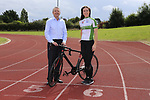 Eoin O'Flynn marketing manager Flogas Ireland and Eve McCrystal.<br /> Picture Fran Caffrey/Newsfile