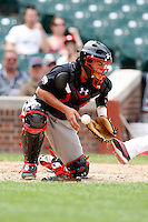 August 8, 2009:  Catcher/First Baseman Alex Ramsay (5) of the Baseball Factory team during the Under Armour All-America event at Wrigley Field in Chicago, IL.  Photo By Mike Janes/Four Seam Images