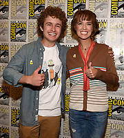 SAN DIEGO COMIC-CON© 2019:  L-R: 20th Century Fox Television and Hulu's Solar Opposites Cast Members Sean Giambrone and Mary Mack during the SOLAR OPPOSITES press room on Friday, July 19 at the SAN DIEGO COMIC-CON© 2019. CR: Frank Micelotta/20th Century Fox Television