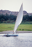 Feluccas are the traditional sailboats of Egypt's Nile.