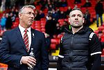 Nigel Adkins manager of Sheffield Utd talks to David Dunn manager of Oldham Athletic - FA Cup Second round - Sheffield Utd vs Oldham Athletic - Bramall Lane Stadium - Sheffield - England - 5th December 2015 - Picture Simon Bellis/Sportimage