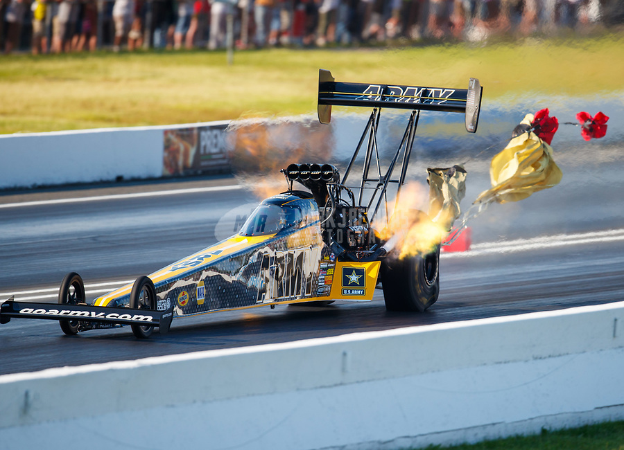 Jun 10, 2017; Englishtown , NJ, USA; NHRA top fuel driver Tony Schumacher during qualifying for the Summernationals at Old Bridge Township Raceway Park. Mandatory Credit: Mark J. Rebilas-USA TODAY Sports