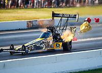 Jun 10, 2017; Englishtown , NJ, USA; NHRA top fuel driver Tony Schumacher during qualifying for the Summernationals at Old Bridge Township Raceway Park. Mandatory Credit: Mark J. Rebilas-USA TODAY Sports