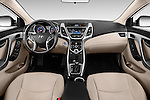 Stock photo of straight dashboard view of 2016 Hyundai Elantra Value Edition 4 Door Sedan Dashboard