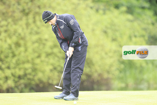 Russell Knox (SCO) putts on the 17th green during Thursday's Round 1 of the 2016 Dubai Duty Free Irish Open hosted by Rory Foundation held at the K Club, Straffan, Co.Kildare, Ireland. 19th May 2016.<br /> Picture: Eoin Clarke | Golffile<br /> <br /> <br /> All photos usage must carry mandatory copyright credit (&copy; Golffile | Eoin Clarke)