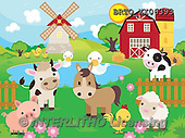 Alfredo, CUTE ANIMALS, LUSTIGE TIERE, ANIMALITOS DIVERTIDOS, puzzle, paintings+++++,BRTOXX06393,#AC# ,farm animals