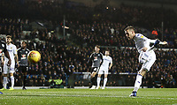 Leeds United's Barry Douglas with an early headed attempt from close range<br /> <br /> Photographer Rich Linley/CameraSport<br /> <br /> The EFL Sky Bet Championship - Leeds United v Reading - Tuesday 27th November 2018 - Elland Road - Leeds<br /> <br /> World Copyright &copy; 2018 CameraSport. All rights reserved. 43 Linden Ave. Countesthorpe. Leicester. England. LE8 5PG - Tel: +44 (0) 116 277 4147 - admin@camerasport.com - www.camerasport.com