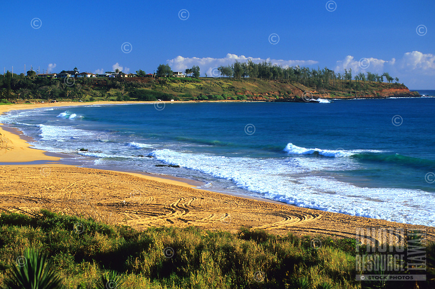Kealia Beach is located just outside of Kapa'a in east Kaua'i.