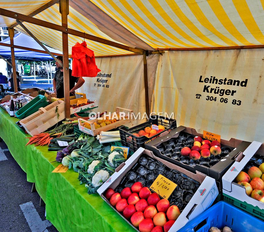Barraca de alimentos organicos em Berlin. Alemanha. 2011. Foto de Juca Martins.