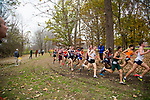 LOUISVILLE, KY - NOVEMBER 18: Runners round a corner of the course during the Division I Men's Cross Country Championship held at E.P. Tom Sawyer Park on November 18, 2017 in Louisville, Kentucky. (Photo by Tim Nwachukwu/NCAA Photos via Getty Images)