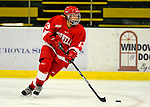 25 October 2008: Cornell University defenseman Amanda Young, a Freshman from Lacombe, Alberta, in action against the University of Vermont Catamounts at Gutterson Fieldhouse, in Burlington, Vermont. The Big Red defeated the Catamounts 5-1 to sweep their 2-game series in Vermont...Mandatory Photo Credit: Ed Wolfstein Photo