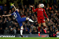 3rd March 2020; Stamford Bridge, London, England; English FA Cup Football, Chelsea versus Liverpool; Billy Gilmour of Chelsea challenges Curtis Jones of Liverpool