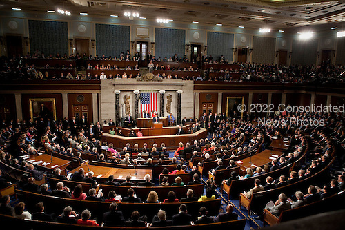 Washington, DC - September 9, 2009 -- United States President Barack Obama delivers a health care address to a joint session of Congress at the United States Capitol in Washington, D.C., September 9, 2009..Mandatory Credit: Lawrence Jackson - White House via CNP