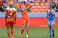 Houston, TX - The Houston Dash defeated the Chicago Red Stars 2-0 on Saturday April 15, 2017: Kealia Ohai during a regular season National Women's Soccer League (NWSL) match at BBVA Compass Stadium.