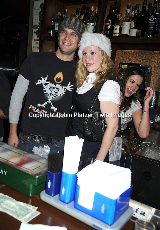 John Brotherton and Caitlin Van Zandt and Melissa Claire Egan ..at The Stockings With Care Benefit at Bar 13 on  December 4, 2008 in New York City. ......Robin Platzer, Twin Images