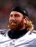 18 November 2007: New England Patriots offensive tackle Matt Light watches game action from the bench during a game against the Buffalo Bills at Ralph Wilson Stadium in Orchard Park, NY. The Patriots defeated the Bills 56-10 in their second meeting of the season...Mandatory Photo Credit: Ed Wolfstein Photo