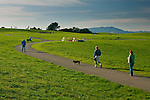 Walking trails at Cesar Chavez City Park, Berkeley Waterfront, Alameda County, California