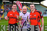 James Duncan Kenmare Captain with the cup Johnn after defeating  Crokes in the County Intermediate Final at Austin Stack Park Tralee on Sunday.