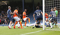 Blackpool's Nathan Delfouneso scores his side's third goal<br /> <br /> Photographer Rob Newell/CameraSport<br /> <br /> The EFL Sky Bet Championship - Southend United v Blackpool - Saturday 10th August 2019 - Roots Hall - Southend<br /> <br /> World Copyright © 2019 CameraSport. All rights reserved. 43 Linden Ave. Countesthorpe. Leicester. England. LE8 5PG - Tel: +44 (0) 116 277 4147 - admin@camerasport.com - www.camerasport.com