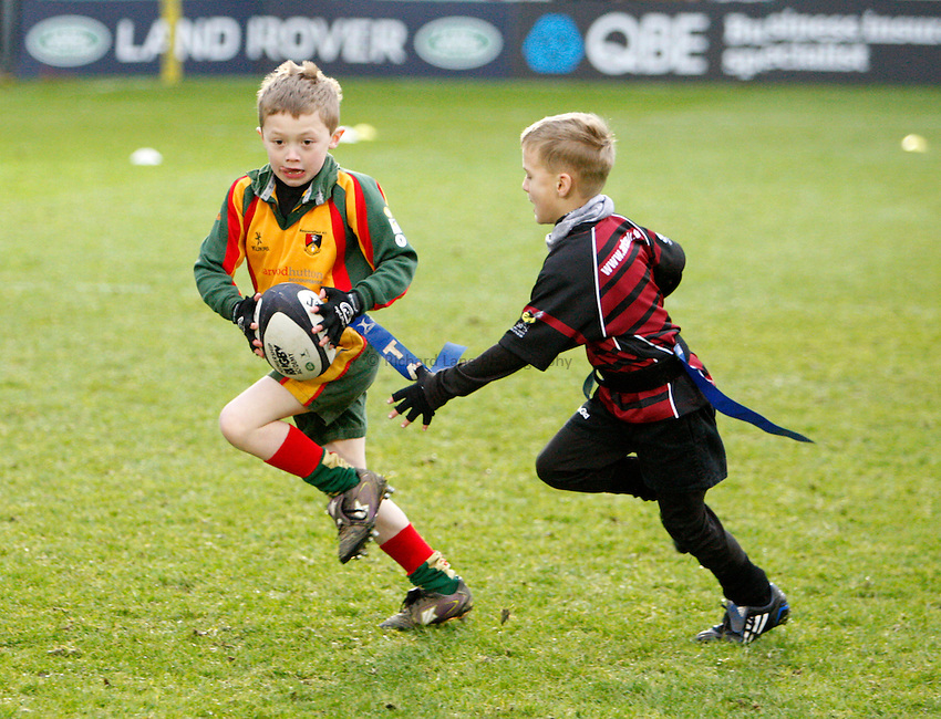 Photo: Richard Lane/Richard Lane Photography. London Wasps v Sale Sharks. 23/12/2012. Tag Rugby.