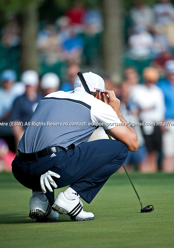 Sergio Garcia during the first round of the Quail Hollow Championship