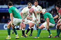 Dan Cole of England takes on the Ireland defence. RBS Six Nations match between England and Ireland on February 27, 2016 at Twickenham Stadium in London, England. Photo by: Patrick Khachfe / Onside Images