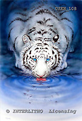 Kayomi, REALISTIC ANIMALS, paintings, tiger, USKH108,#A# realistische Tiere, realista, illustrations, pinturas