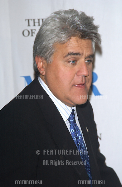 TV chat show host JAY LENO at the Museum of Television & Radio Gala, in Beverly Hills..November 10, 2003
