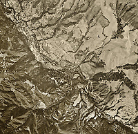historical aerial photograph Carmel Valley, Monterey County, California, 1968
