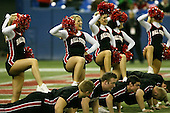 January 5th, 2008:  Ball State cheerleaders celebrate the teams touchdown during the third quarter of the International Bowl at the Rogers Centre in Toronto, Ontario Canada...Rutgers defeated Ball State 52-30.  ..Photo By:  Mike Janes Photography