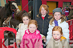 Listowel Horse Fair : Attending the first horse fair of the year in Listowel on Thursday last were in front Niamh Hudson, McKenzie  & Tayler Mulvihill and Faye Mulvihill & Annya Mulvihill all from Listowel.