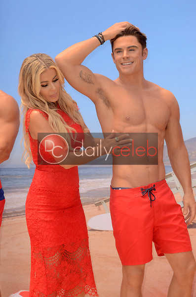 Carmen Electra<br /> at the unveiling of the shirtless Baywatch Zac Efron Wax Figure at Madame Tussauds Hollywood, CA 07-12-17<br /> David Edwards/Dailyceleb.com 818-249-4998
