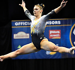 The SEC National Gymnastic Championship was held on Saturday March 24 at Chaifetz Arena on the Saint Louis University campus. Mizzou&rsquo;s Morgan Porter durng the floor competition.<br />