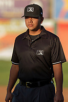 MiLB third base umpire Luis Hernandez prior to the 2018 California League All-Star Game at The Hangar on June 19, 2018 in Lancaster, California. The North All-Stars defeated the South All-Stars 8-1.  (Donn Parris/Four Seam Images)