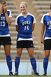 28 August 2009: Duke's Erin Koballa. The Duke University Blue Devils lost 1-0 to the University of North Carolina Greensboro Spartans at Fetzer Field in Chapel Hill, North Carolina in an NCAA Division I Women's college soccer game.