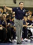 USA's coach Mike Krzyzewski during friendly match.July 22,2012. (ALTERPHOTOS/Acero)