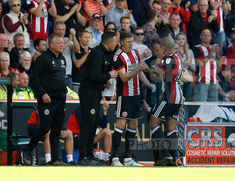 John Lundstram of Sheffield Utd makes his home debutduring the English Championship League match at Bramall Lane Stadium, Sheffield. Picture date: August 5th 2017. Pic credit should read: Simon Bellis/Sportimage
