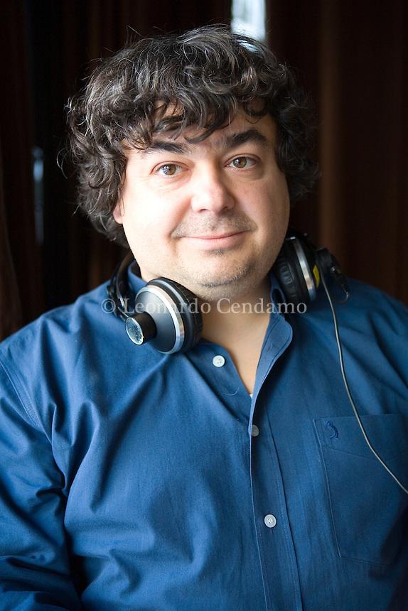 Courmayeur, Aosta, Italy, 2008. Luca Crovi, Italian writer, radio host, rock music critic. His books are published in Italy by Mondadori.