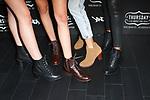 Model pose with boots at the Thursday Boot Company Presentation at Vandal on September 13, 2017 in New York City.