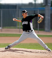 Kyle Hancock - Colorado Rockies, 2009 Instructional League.Photo by:  Bill Mitchell/Four Seam Images..