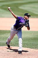 May 31, 2009:  Pitcher Jeanmar Gomez of the Akron Aeros delivers a pitch during a game at Jerry Uht Park in Erie, NY.  The Aeros are the Eastern League Double-A affiliate of the Cleveland Indians.  Photo by:  Mike Janes/Four Seam Images