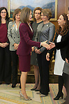 Queen Letizia of Spain receives the Spanish Association of Executive and Councelor Women during a Royal reception at Zarzuela Palace in Madrid, Spain. October 27, 2015. (ALTERPHOTOS/Victor Blanco)