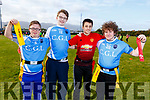 Liam Purcell, Aodhan Quirke, Jonathan Carey and Dylan Duffy from Colaiste Gleann Li at the KETB Schools Senior Cycle Tag Rugby blitz in the Kerry Sports and Leisure Centre, Tralee on Monday.