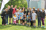 Deborah Koenigsberger and volunteers - Hearts of Gold 7th Annual Run/Walk for Kids with proceeds from this fun family event will change the futures of homeless mothers and their children on June 3, 2017 at Pier 84 Hudson Parks, New York City, New York. It supports Hearts of Gold Annual Back to School Programs. (Photo by Sue Coflin/Max Photos)