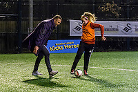 Wednesday 08 February 2017<br /> Pictured: Lee Trundle<br /> Re: Premier League Kicks event at Baglan Boys and girls Club, Port Talbot, Wales UK